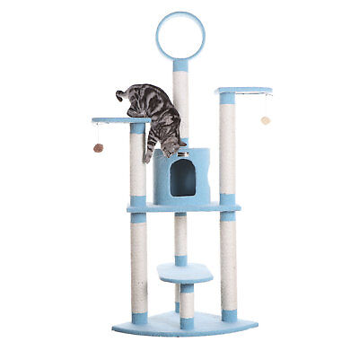"Armarkat Classic Cat Tree Model B6605 Sky Blue, 66"" H"