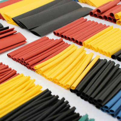 127/280/328Pcs 8 Sizes 2:1 Heat Shrink Tubing Tube Sleeving Wrap Cable Wire