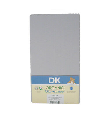 DK Glovesheets GOTS Certified 100% Organic Cotton Fitted Dove Grey Cot Bed Sheet