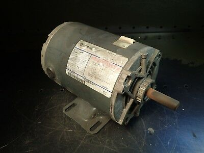 GE 5K37MN4A K118 3/4HP Electric Motor: 3450-RPM 208-230/460V 3ph fr 56 Used Good
