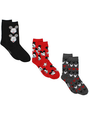 Mickey Mouse Womens 3 pack Crew Socks (Teen/Adult) MK069JCC