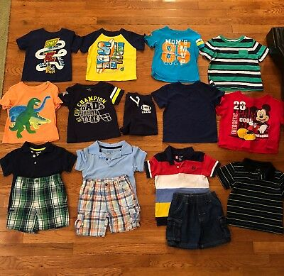 16pc LOT of boy summer clothes size 18 months