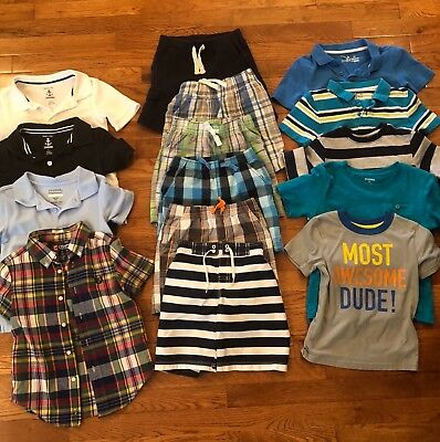 Lot Of Boys Clothes 4T, 15 pieces, Gymboree, Chaps, Jumping Bean, Circo, George