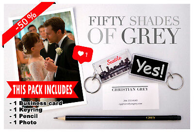 -50% Pack Fifty Shades Of Grey Keychain Pencil Card Exclusive Repro Prop Replica