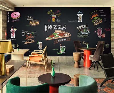 Delicious Fast Food 3D Full Wall Mural Photo Wallpaper Printing Home Kids Decor