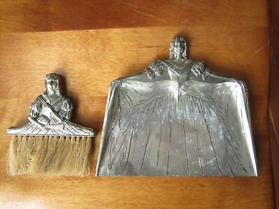 Vintage Madame Du Barry Silverplate Crumb tray and brush SET Art Deco