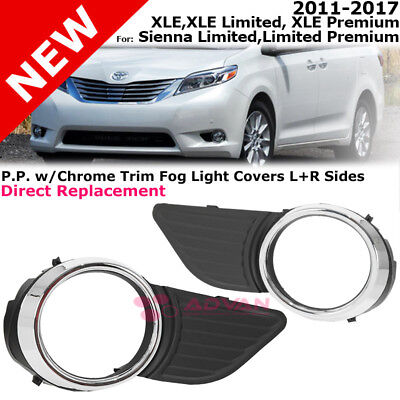 Front Bumper Fog Light Cover 11-17 Sienna Base XLE Limited Premium Right Left