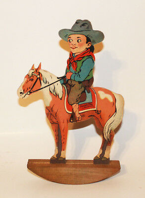 """Extremely rare Bronco Pawnee Pete """" The Bronco Buster """" advertising for Strauss"""