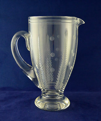 "Stuart Crystal ""WOODCHESTER SPOT"" Large Water Jug – 22.7cms (8-7/8″) tall"