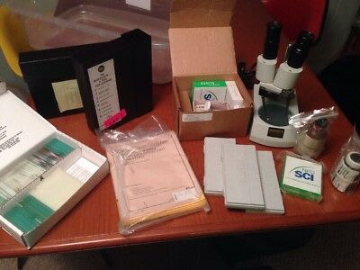 Wards Student Microscope w/ Slides & Learning Materials