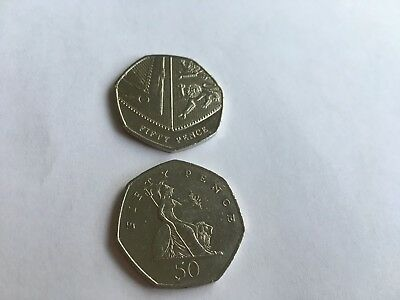 Uk Coins 50P Shield Or Britannia Circulated 1997 - 2019 Choose From The List