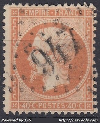 France Empire N° 23 Avec Obliteration Gc 947 Chateauroux Indre