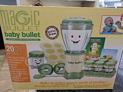 Magic Bullet Baby Bullet Baby Care System 20 Pc & 8 Pc New