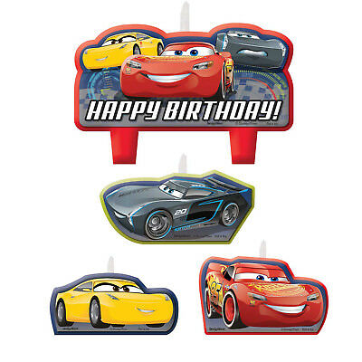 4 x Disney Cars Birthday Party Cake Candles Boys Cars Party Supplies Decorations