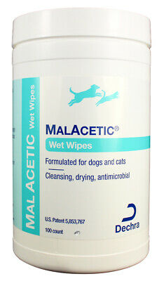 MalAcetic Wet Wipes for Dogs & Cats (100 count)