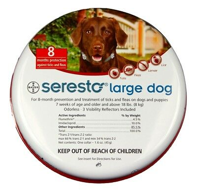 Seresto Flea & Tick Collar for Large Dogs (18 lbs+)