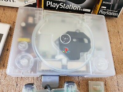 PlayStation 1 - Original TRANSPARENT Region Free Console (SCPH-7502A) reads CD-R