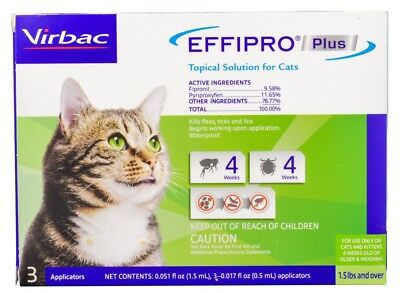 Effipro Plus Topical Solution for Cats (3 count)
