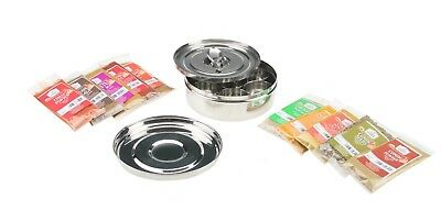 Spice Tin and Spice Stainless Steel Masala Dabba and 10pc Spices Kit FREE SPOON