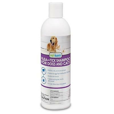 Vet-Kem Flea & Tick Shampoo for Dogs & Cats (12 oz)