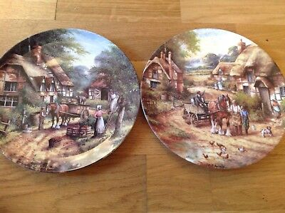 Wedgwood ( Country Days ) 2 Limited Edition Collectors Plates by Chris Howells