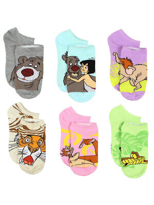 The Jungle Book 6 pack Women's Socks (Teen/Adult) JB001JNS