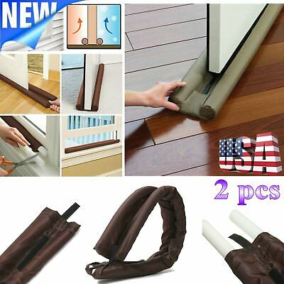 2 Twin Door Doorstop Decor Draft Dodger Guard Stopper Energy Saving Protector HM