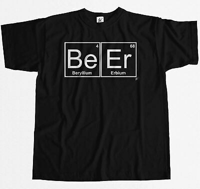 Periodic Table - Chemistry Of Beer Pub Pint Stag Mens T-Shirt