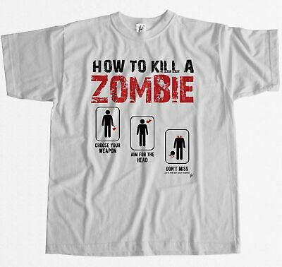 How To Kill A Zombie Choose Aim Don't Miss Survival Mens T-Shirt