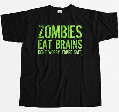 Zombies Eat Brains - Don't Worry You're Safe Mens T-Shirt