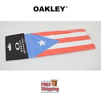 Oakley® Sunglasses Eyeglasses Microclear Cleaning Storage Bag Puerto Rico Flag