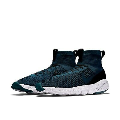 Men's Nike Air Footscape Magista Flyknit FC Shoes NEW Turquoise/Black, MSRP  $200