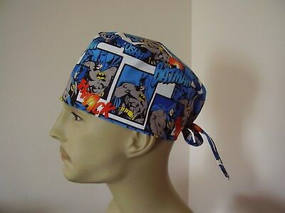 Surgical Scrub Cap/Hat - BATMAN -Handmade- One size - Men Women