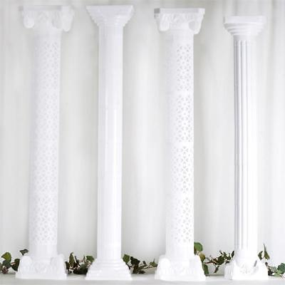 """4 pcs WHITE 13"""" tall Wedding Roman Empire Columns Extensions Party Decorations"""