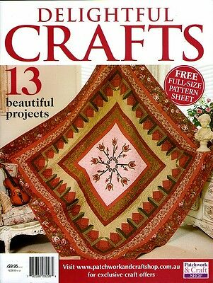 Delightful Crafts  Magazine.  2015. Pattern Sheet Attached
