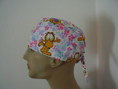 Surgical Scrub Cap/Hat - Garfield/Odie -Handmade- One size -Men Women