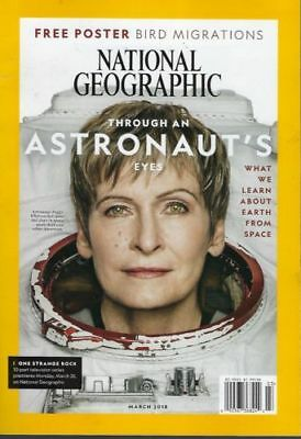 National Geographic March 2018  Astronaut Peggy Whitson, AIRFREIGHT ISSUE (NEW)