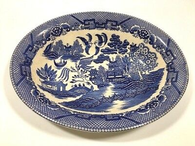 "Antique Blue Willow Oval Bowl Made In Japan - 10 1/2""L x 2""H x 8""W"