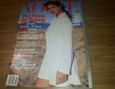Vogue Magazine February 1994 Cindy Crawford American Usa (Revista En Ingles)
