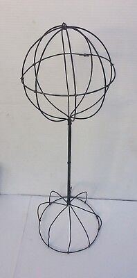 "Vintage looking Tabletop Wire Hat Wig Display Stand - 20-21"" Tall 6.25"" Diameter"
