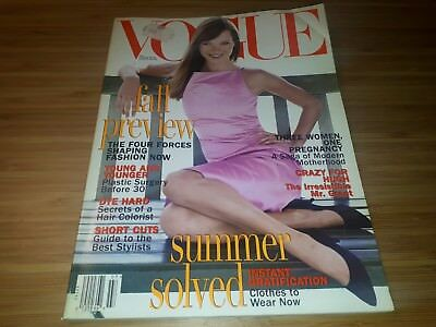 Vogue American Magazine July 1995 - Kate Moss ( Revista Ingles Vintage Magazines