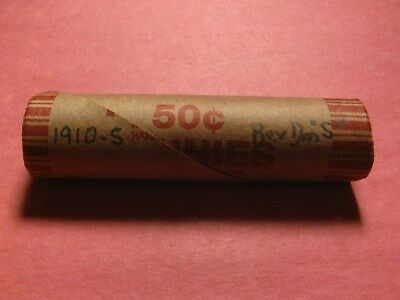 """Sealed Wheat/indian Cent Penny Roll With 1910-S & Rev Dime """"s"""" Ends"""