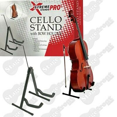 CELLO STAND PROFESSIONAL, HEAVY DUTY 'A' FRAME STEEL STAND w/BOW HANGER - TV7030