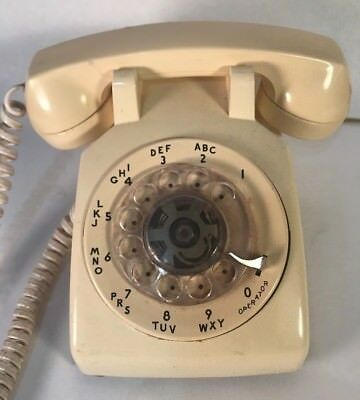 BELL SYSTEM by Western Electric 500 IVORY Desktop Rotary Dial Telephone Prop