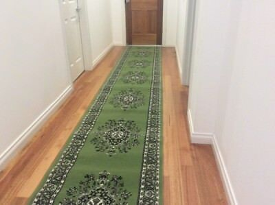 Hallway Runner Hall Runner Rug Green 3 Metres Long x 80cm Free Delivery