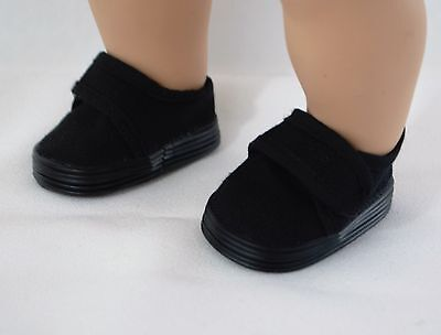 "American Girl Bitty Twins Boy And 18"" Logan Black Shoes Accessories Clothes"