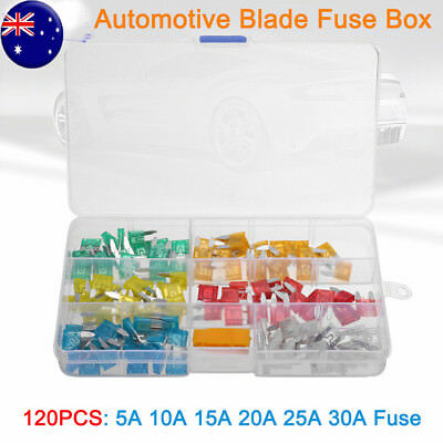 120pcs Mini Blade Fuse Assortment Set Auto Car Truck Motorcycle SUV Fuses Kit MN