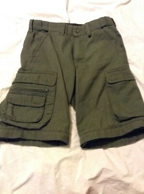 BSA Boy Scouts Of America GREEN  Convertible Uniform Pants youth 8 +