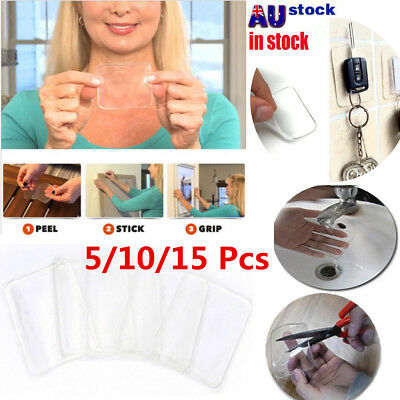 5/10/15 PCS Super Sticky Gripping Pad Floor Phone Sticker Holder Clear Reusable