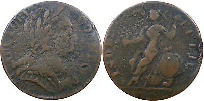 1785 Connecticut Copper, Miller 1-E, first variety listed, scarce, sharp Fine